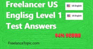 US English Level 1 test Answers