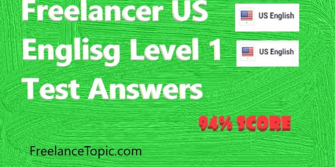 US English Level 1 test Answers
