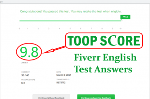 Fiverr English test Questions Answers