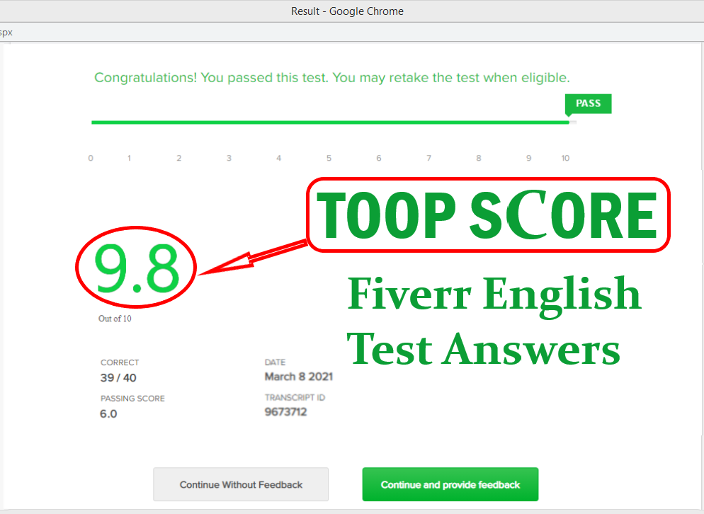 Fiverr English Test Question Answers 2021